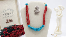 Load image into Gallery viewer, Ancient Goddess Beaded Necklace - Aphrodite - Verna Artisan Works