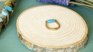 Ancient Goddess Chic Ring - Blue - Verna Artisan Works
