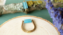Load image into Gallery viewer, Ancient Goddess Chic Ring - Blue - Verna Artisan Works