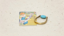 Load image into Gallery viewer, Ancient Goddess Chic Ring - Dainty Turquoise - Verna Artisan Works