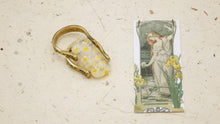 Load image into Gallery viewer, Ancient Goddess Chic Ring - Sunshine Murano Stone - Verna Artisan Works