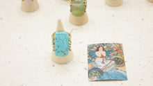 Load image into Gallery viewer, Ancient Goddess Chic Ring - Turquoise - Verna Artisan Works