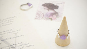 Ancient Goddess Chic Purple Jade Crystal Stone Ring - Verna Artisan Works
