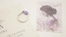 Load image into Gallery viewer, Ancient Goddess Chic Purple Jade Crystal Stone Ring - Verna Artisan Works