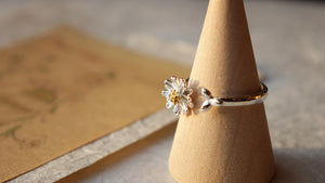 Daisy Adjustable Silver Ring - Verna Artisan Works