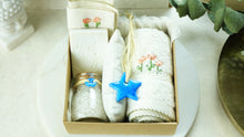 Load image into Gallery viewer, Embroidered Wellbeing Spa Set in a Gift Box - Verna Artisan Works