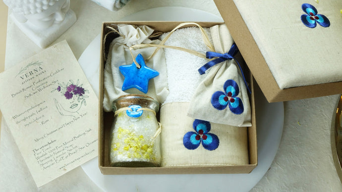 Cintemani Embroidered Wellbeing Gift Set - Verna Artisan Works