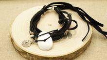 Load image into Gallery viewer, Victorian Style Leather Bracelet - Charmed - Verna Artisan Works