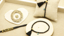 Load image into Gallery viewer, Victorian Style Bracelet - Evil Eye Tassel - Verna Artisan Works