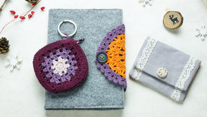 Crochet Stationary Notebook Letterbox Gift Set - Verna Artisan Works