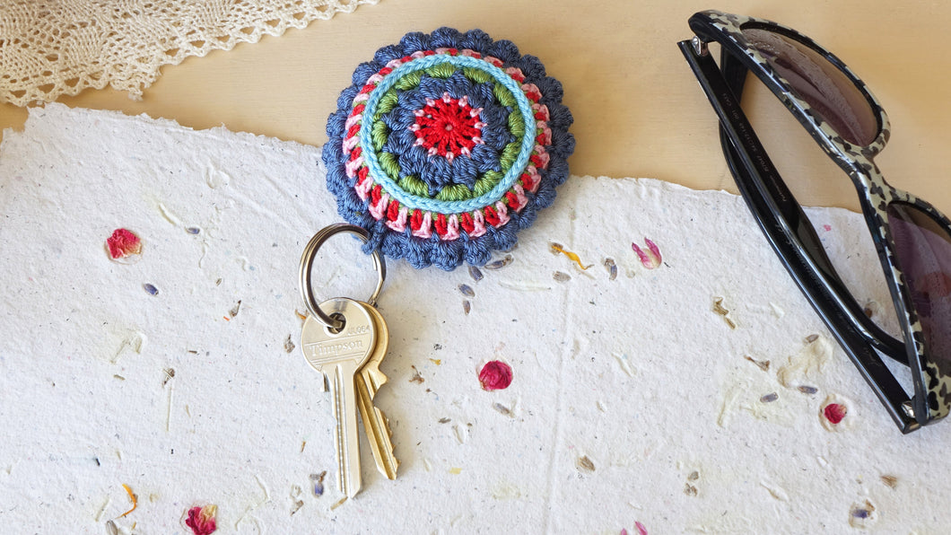 Crocheted Colorful Keyring - Verna Artisan Works