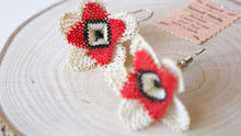 Load image into Gallery viewer, Floral Needle Lace Earrings - Verna Artisan Works
