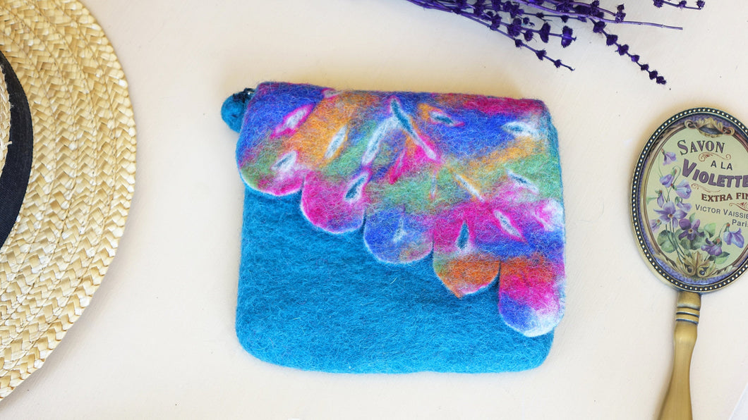 Rainbow Felt Purse Bag - Verna Artisan Works