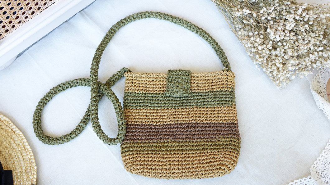 Knitted Straw Bag - Verna Artisan Works
