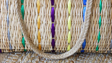 Load image into Gallery viewer, Rattan Straw Bag with Colorful Ribbon Details - Verna Artisan Works