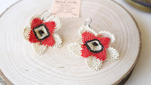 Floral Needle Lace Earrings - Verna Artisan Works