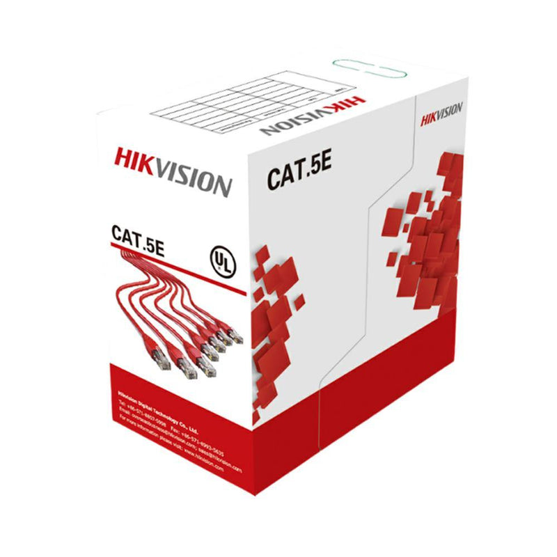 HIKVISION DS-1LN5EU-W/CMR 1000ft CCU UTP Cable, 24 AWG, 4 twisted pair, unshielded, Cat5e Cable, Blue - LINOVISION