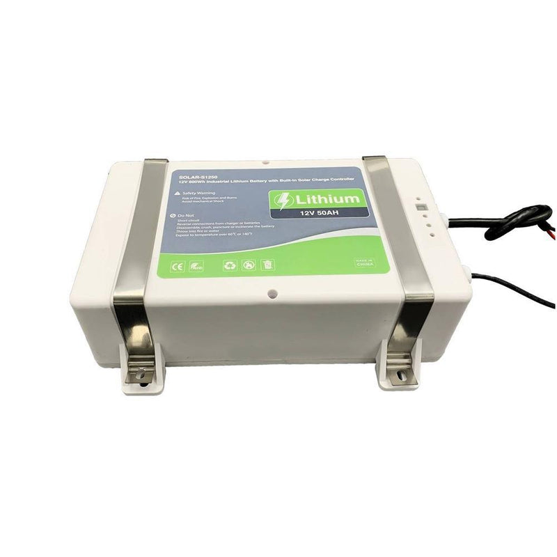 12V 50Ah High Performance Lithium Battery with Built-in Solar Charge Controller - LINOVISION