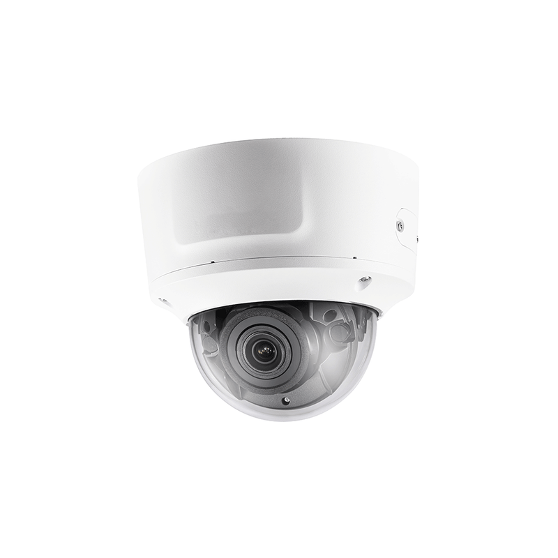 4K H265+ IP dome camera with 2.8-12mm motorized lens TrueWDR  audio/alarm DS-2CD2783G1-IZS - LINOVISION