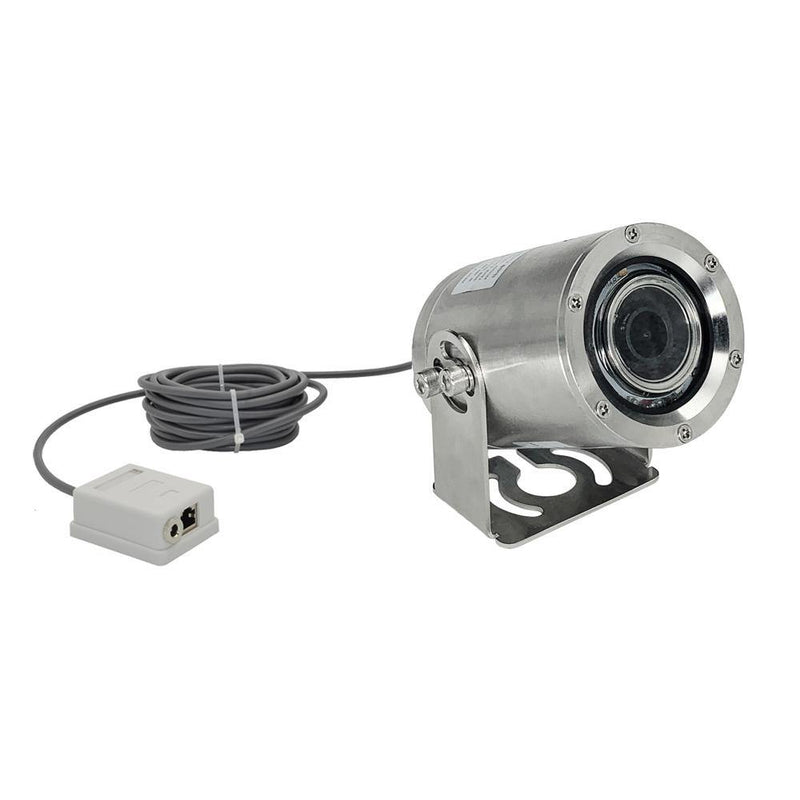 LINOVISION 5MP 2.8-12mm Lens 316L Stainless Steel Underwater POE IP Camera with White LEDs Working in 165ft Lake Water or Ocean Water, Comes with 16.5ft Cable (IPC425Z-316LAC) - LINOVISION