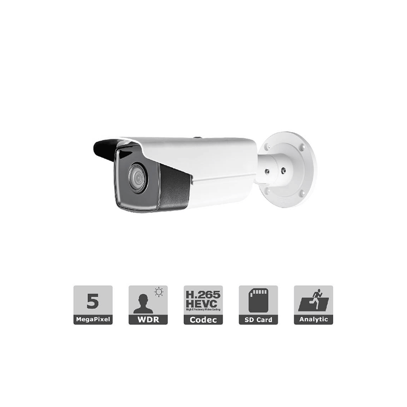 6MP H.265+ IP bullet camera 120dB WDR 6mm lens EXIR 165ft DS-2CD2T63G0-I5 - LINOVISION