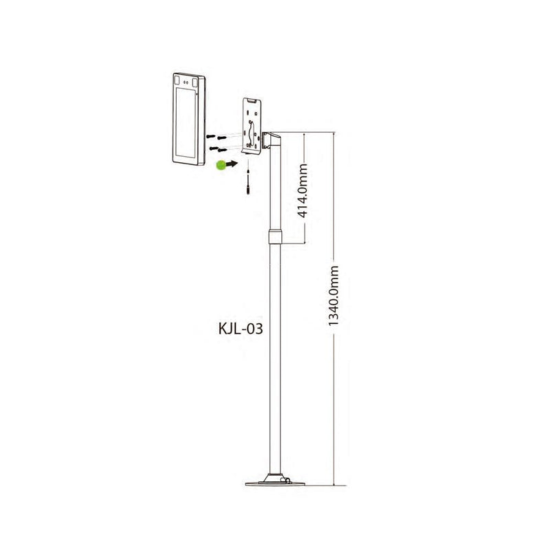 Floor stand for FSS-FRZ5T (ZKTECO SF1005-V+), 69 inches - LINOVISION