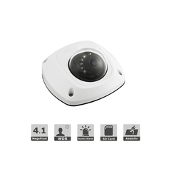 4MP Pro H.265 WDR IP wedge dome camera 100ft IR built-in Mic 2.8mm lens DS-2CD2543G0-IS - LINOVISION