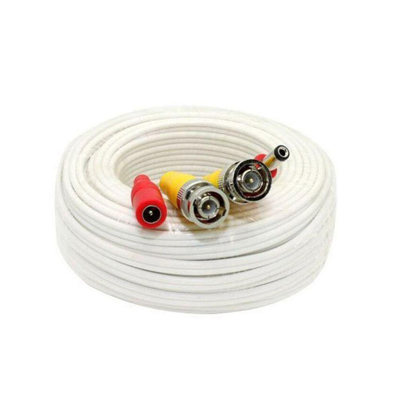 150 feet Pre-made power and video HD-TVI cable, White - LINOVISION