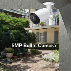 5MP POE IP Bullet Camera With Built-in Mic Weatherproof Metal Housing 2.8mm - LINOVISION