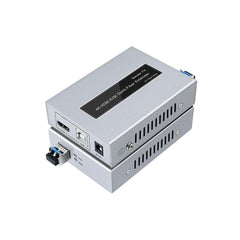 4K 30Hz 20km HDMI KVM Extender Over IP Optical Fiber Cable with USB Port Single Mode, USB Over Fiber - LINOVISION