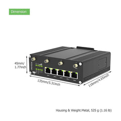 Industrial Solar PoE Switch,8 Port Gigabit with 2 SFP Slots Power with Wide Voltage Input 12-48V and Wide Working Temperature -40℉-167℉ IEEE 802.3af/at Compliant - LINOVISION