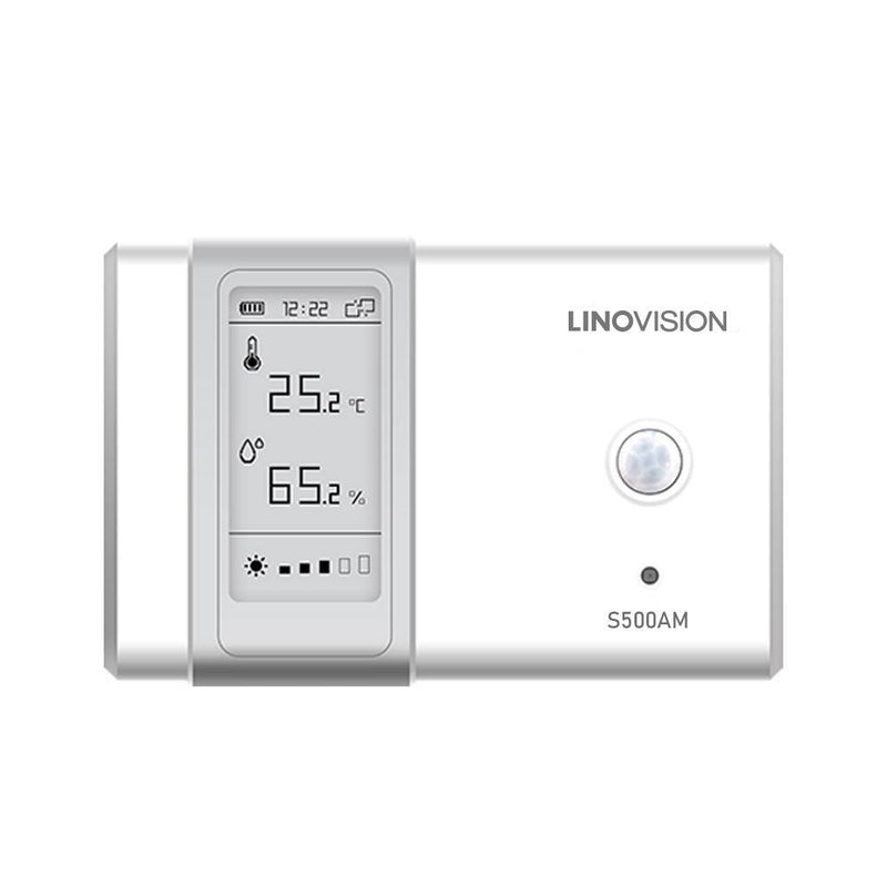 Indoor Comprehensive Ambience Monitoring Sensor with Built-in Display and NFC Config - LINOVISION