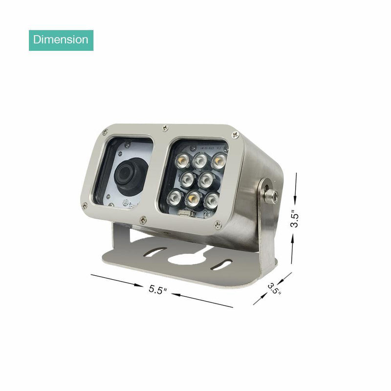 LINOVISION Underwater Camera Featuring 316L Anti-Corrosion Case IP68 1080P 2MP POE IP Camera 10 Meters Length Special Line Lens 2.8MM - LINOVISION