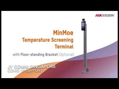 Hikvision DS-K1TA70MI-T Face Recognition Temperature Measurement Access Control Machine System come with Floor-standing Bracket - LINOVISION