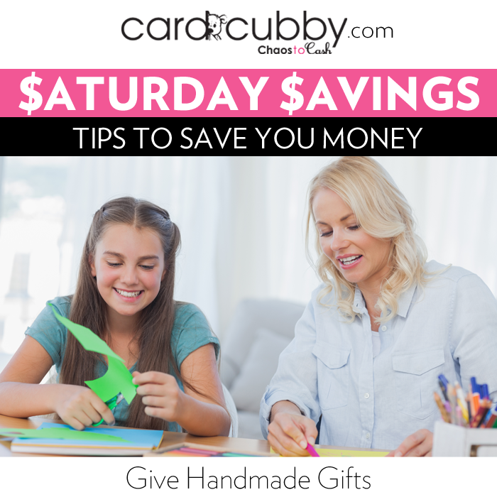 Saturday Savings: Give Handmade Gifts