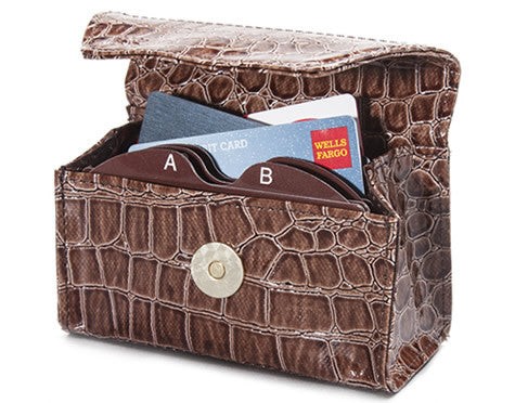 Chocolate Croc Card Cubby