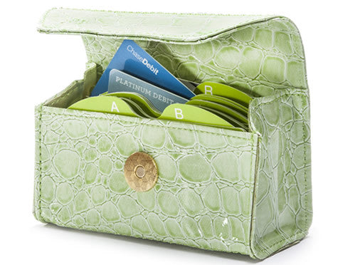New!  Lime Croc Card Cubby (Frog gift card not included)