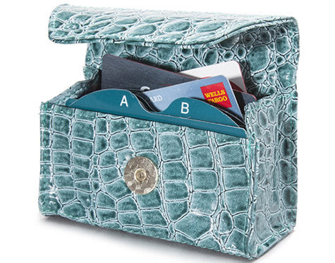 Teal Croc Card Cubby