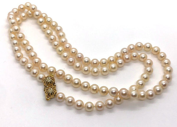 Pearl Necklace With 18k Gold Clasp - Opportunity Shop DC