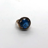12K Gold Ring With Blue Stone - Opportunity Shop DC