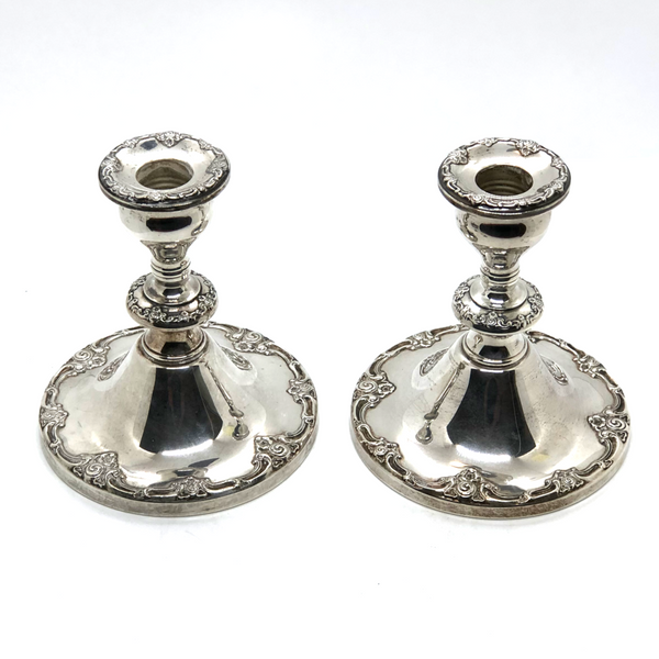 Gorham Sterling Silver Candlesticks - Opportunity Shop DC