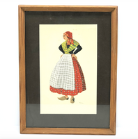 1940s Framed French Portrait - Opportunity Shop DC