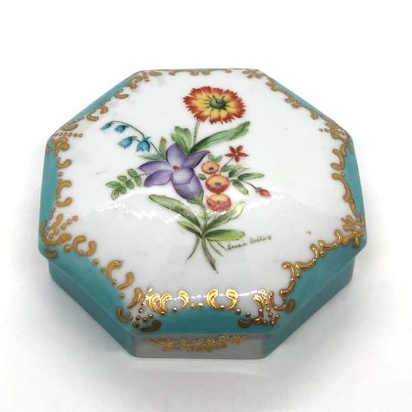 Limoge Floral and Porcelain Box - Opportunity Shop DC