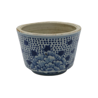 Blue and White Peony Cachepot - Opportunity Shop DC