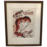 Framed Marc Chagall Lithograph - Opportunity Shop DC