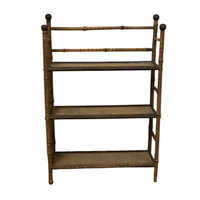 English Antique Bamboo Bookshelf - Opportunity Shop DC