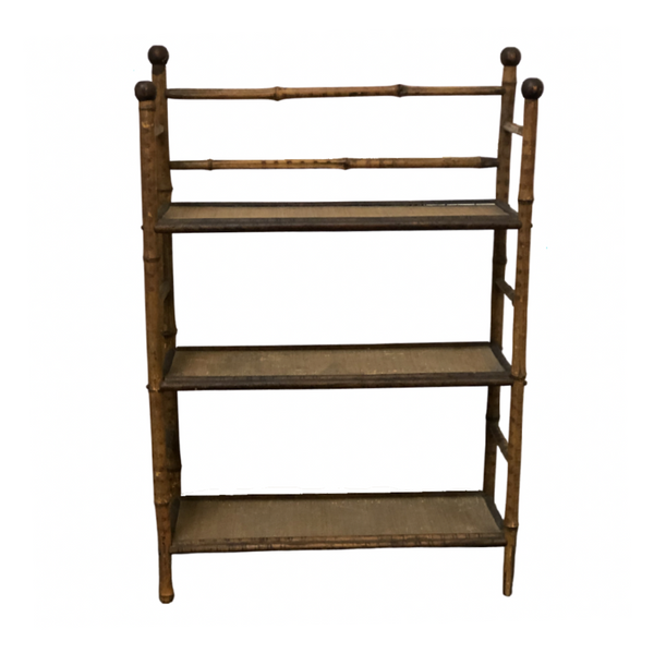 English Antique Bamboo Bookshelf