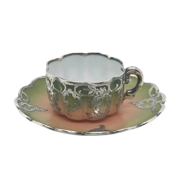 Demitasse Cup & Saucer with Sterling Inlay - Opportunity Shop DC