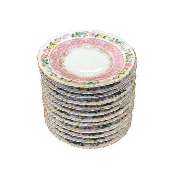 Austrian Porcelain Saucers, Set of 12