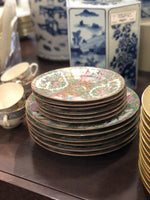 Famille Rose Dinner and Salad Plates, 12